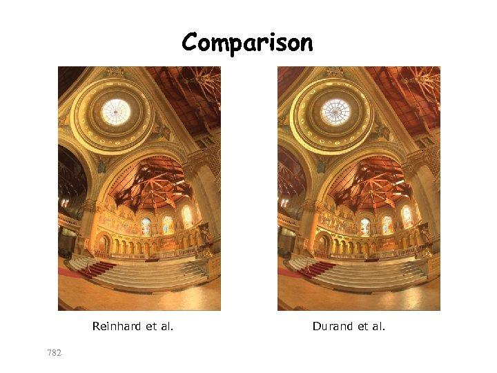 Comparison Reinhard et al. 782 Durand et al.