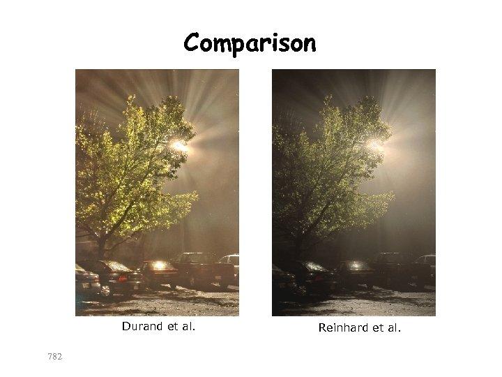 Comparison Durand et al. 782 Reinhard et al.