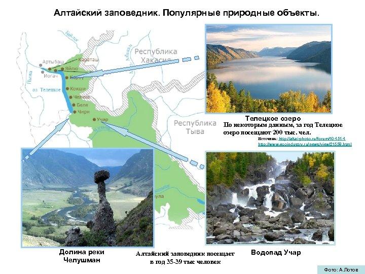 Алтайский заповедник. Популярные природные объекты. Телецкое озеро По некоторым данным, за год Телецкое озеро