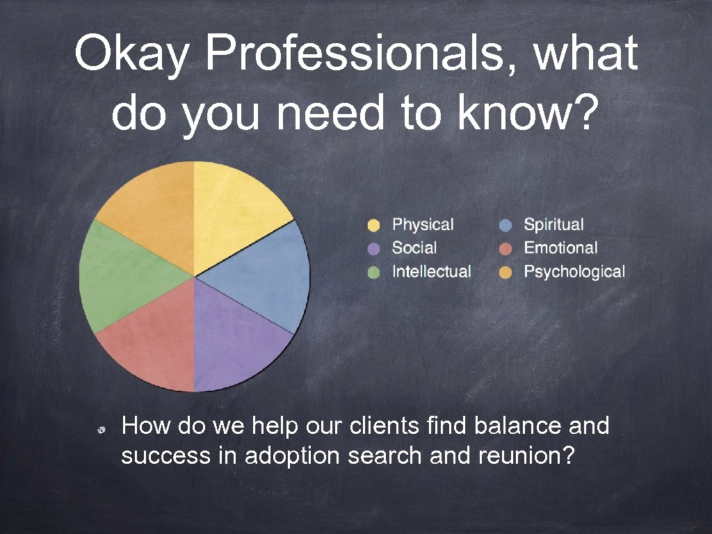 Okay Professionals, what do you need to know? How do we help our clients