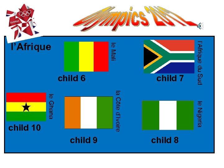 child 6 child 8 child 9 le Nigeria la Côte d'Ivoire le Ghana child