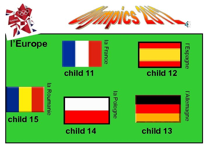 child 11 l'Allemagne child 13 child 14 child 12 l'Espagne la Pologne la Roumanie