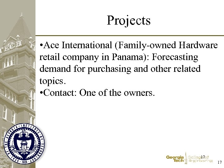 Projects • Ace International (Family-owned Hardware retail company in Panama): Forecasting demand for purchasing