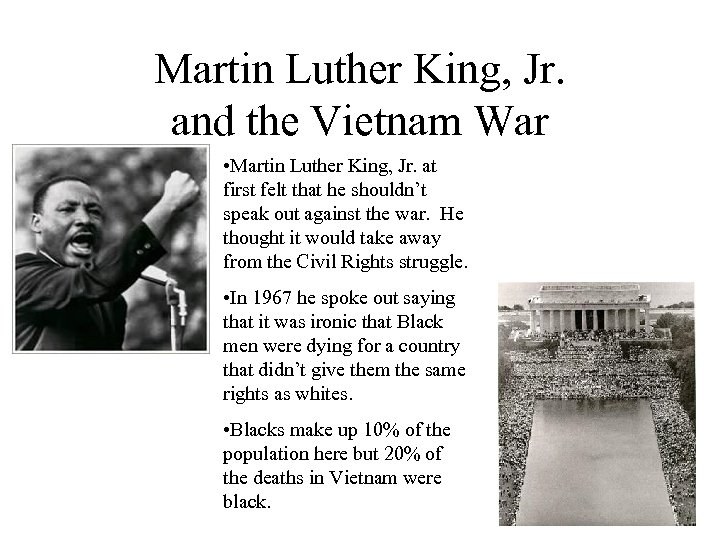 Martin Luther King, Jr. and the Vietnam War • Martin Luther King, Jr. at