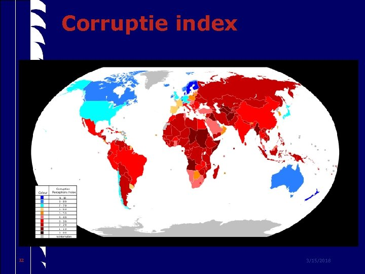 Corruptie index 32 3/15/2018