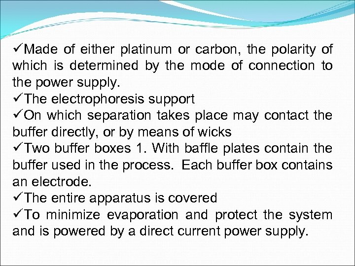 üMade of either platinum or carbon, the polarity of which is determined by the