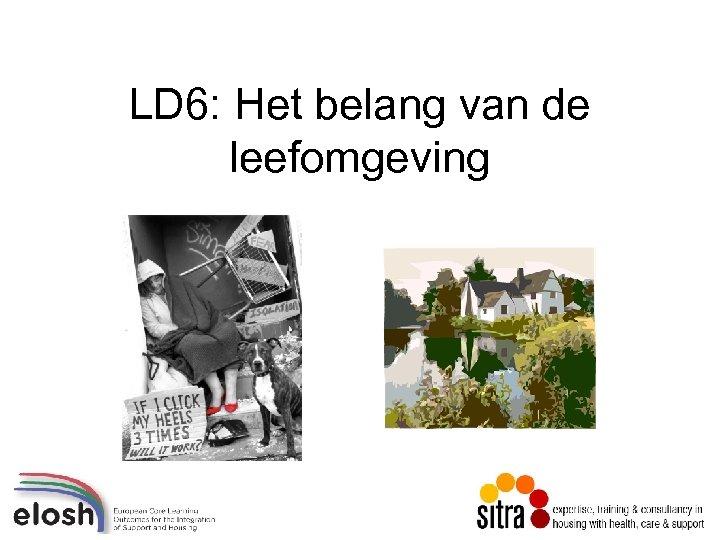 LD 6: Het belang van de leefomgeving