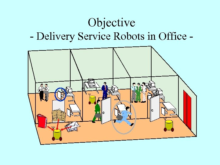 Objective - Delivery Service Robots in Office -