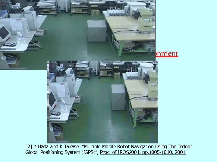 """Previous Work Multi-robot navigation in a static environment [2] Y. Hada and K. Takase: """"Multiple"""