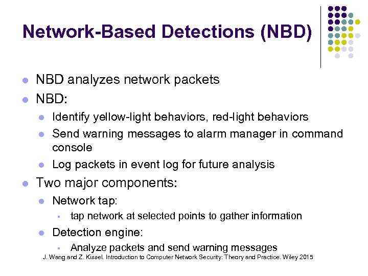 Network-Based Detections (NBD) NBD analyzes network packets NBD: Identify yellow-light behaviors, red-light behaviors Send