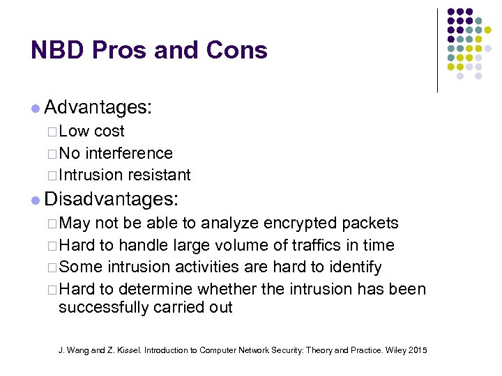 NBD Pros and Cons Advantages: ¨ Low cost ¨ No interference ¨ Intrusion resistant