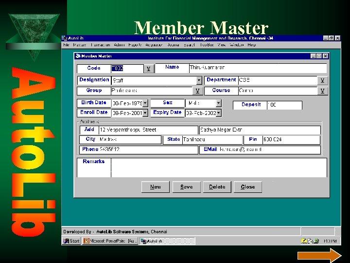 Member Master