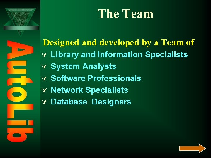 The Team Designed and developed by a Team of Ú Library and Information Specialists