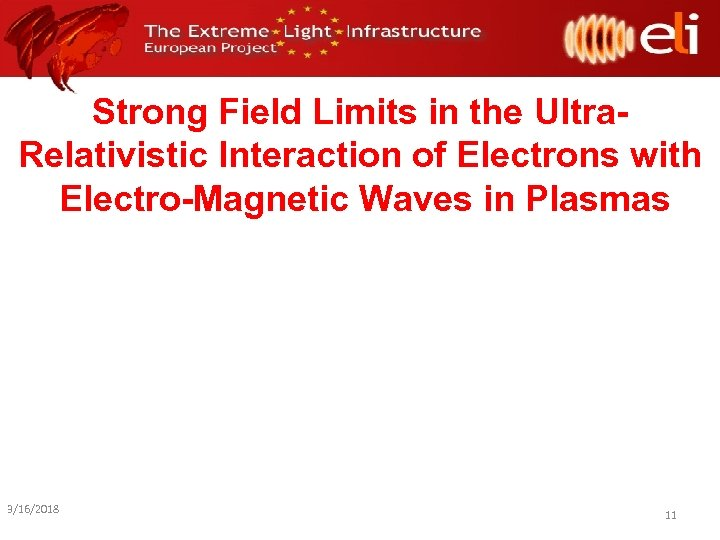 Strong Field Limits in the Ultra. Relativistic Interaction of Electrons with Electro-Magnetic Waves in