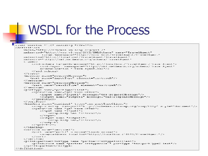 WSDL for the Process