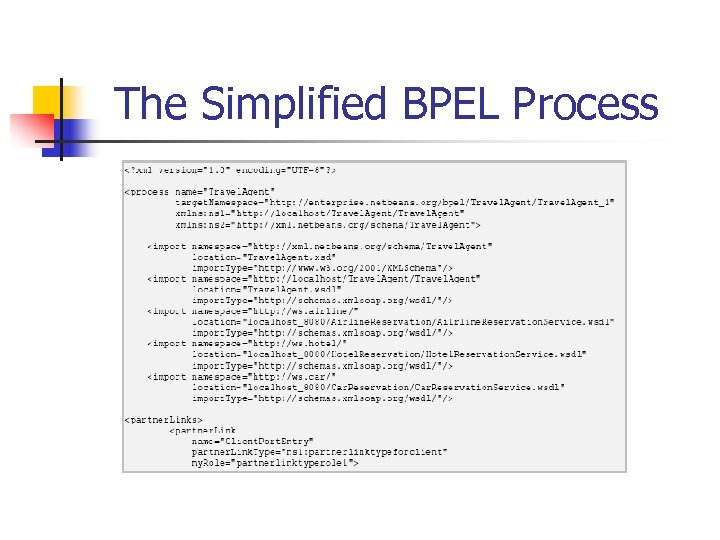 The Simplified BPEL Process