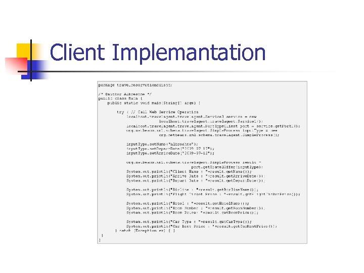 Client Implemantation