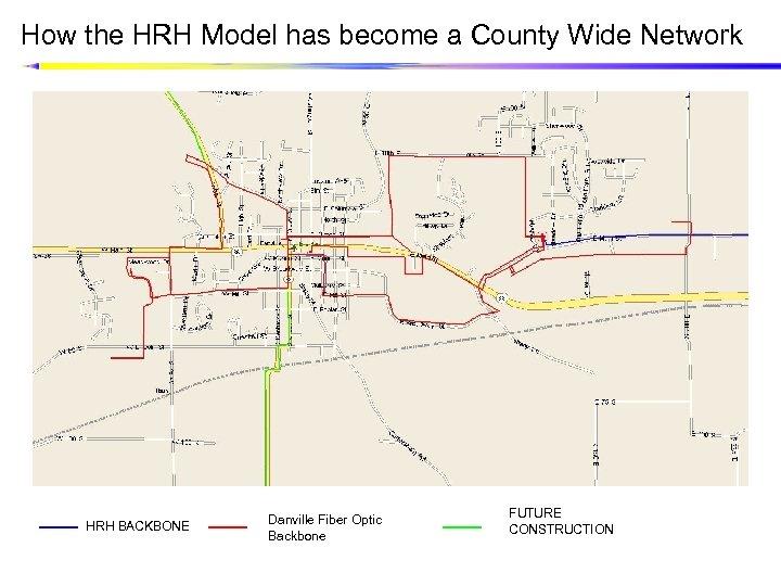 How the HRH Model has become a County Wide Network HRH BACKBONE Danville Fiber