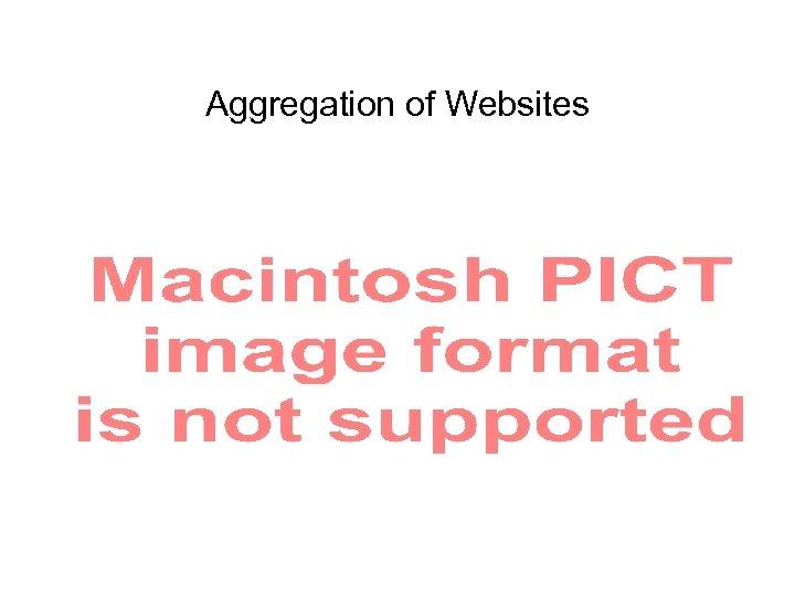 Aggregation of Websites
