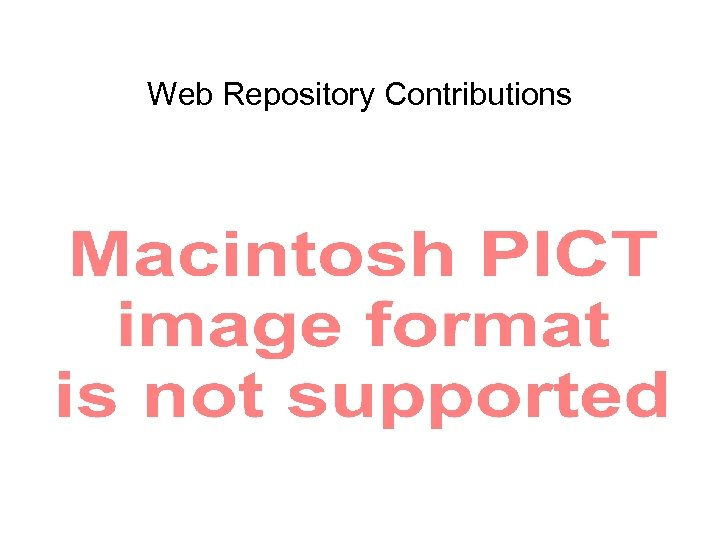 Web Repository Contributions
