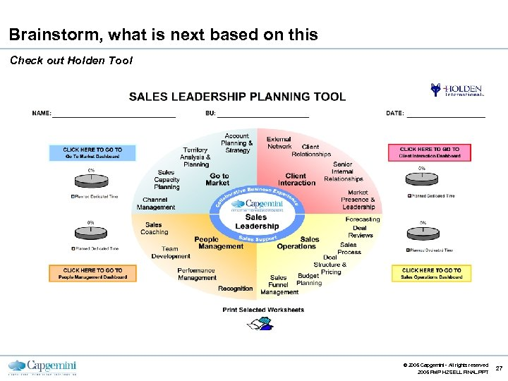 Brainstorm, what is next based on this Check out Holden Tool CE v 5.