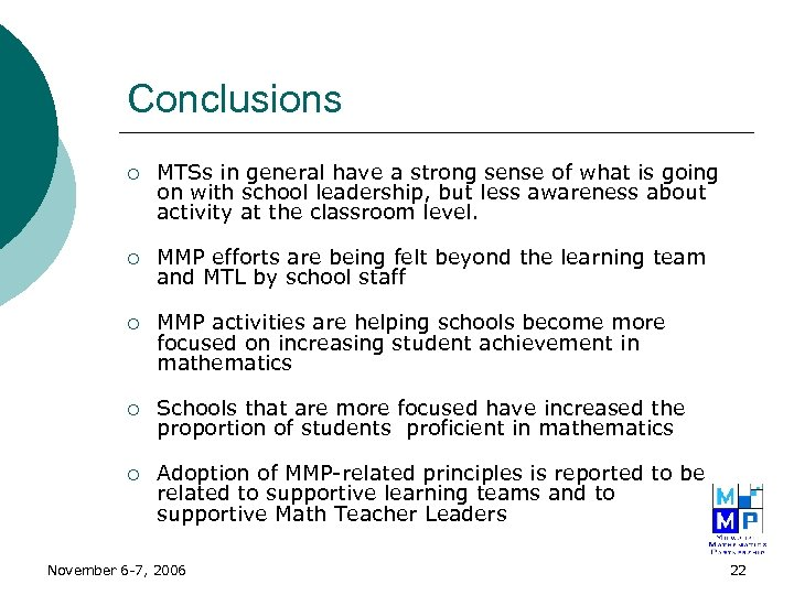 Conclusions ¡ MTSs in general have a strong sense of what is going on