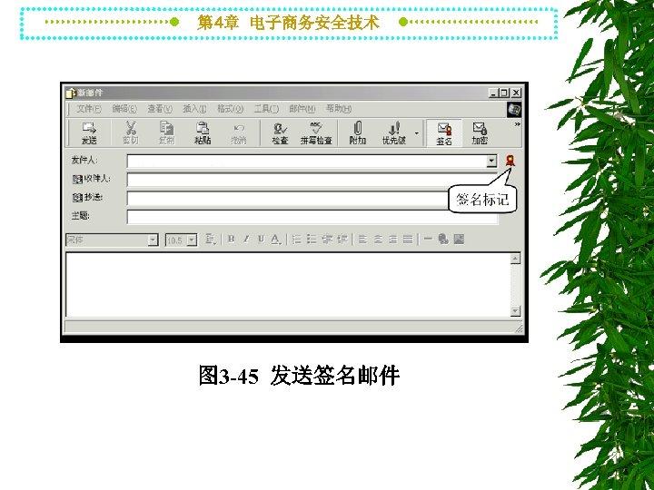 第 4章 电子商务安全技术 图 3 -45 发送签名邮件