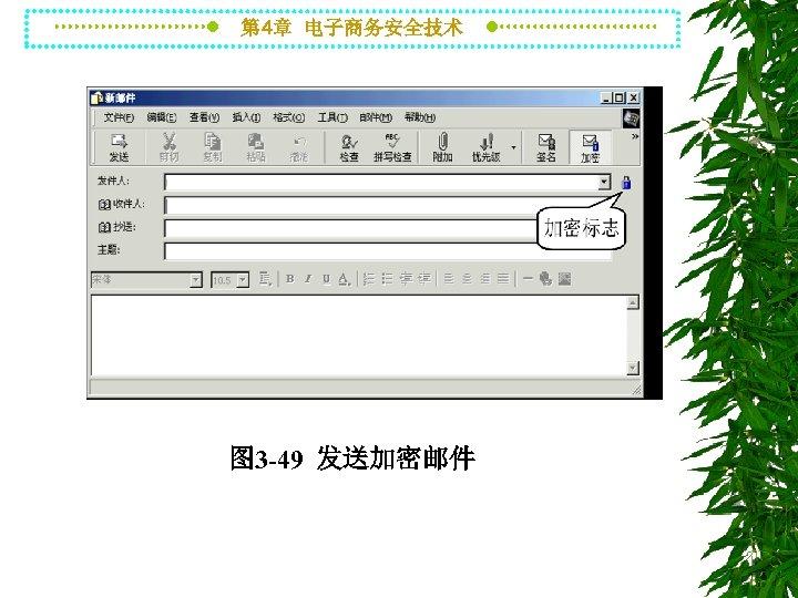 第 4章 电子商务安全技术 图 3 -49 发送加密邮件