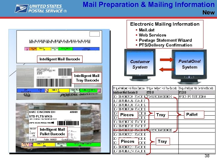 Mail Preparation & Mailing Information New Electronic Mailing Information § Mail. dat § Web