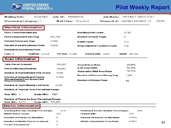 Pilot Weekly Report 44