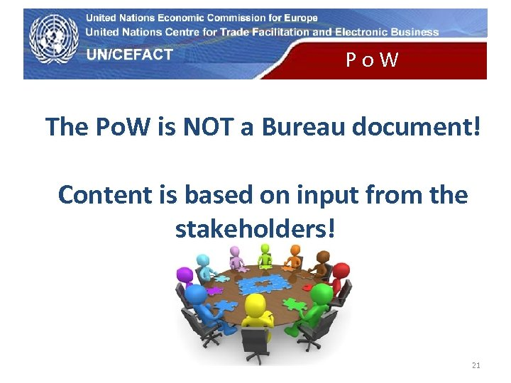 UN Economic Commission for Europe P o W The Po. W is NOT a