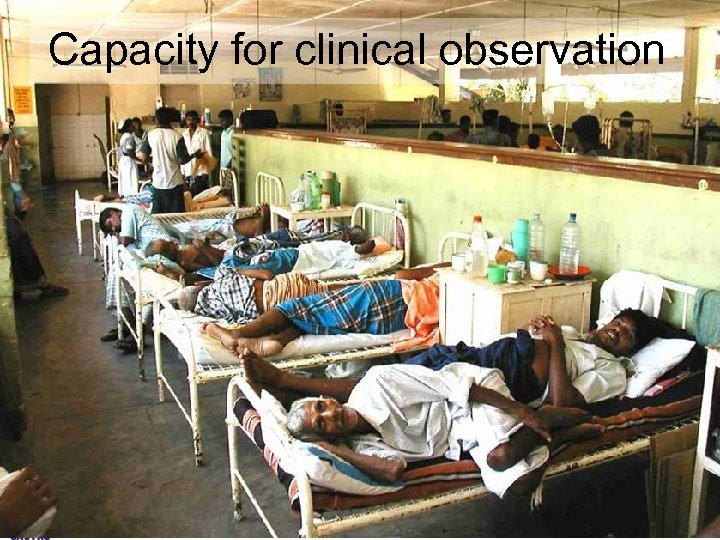 Capacity for clinical observation South Asian Clinical Toxicology Research Collaboration