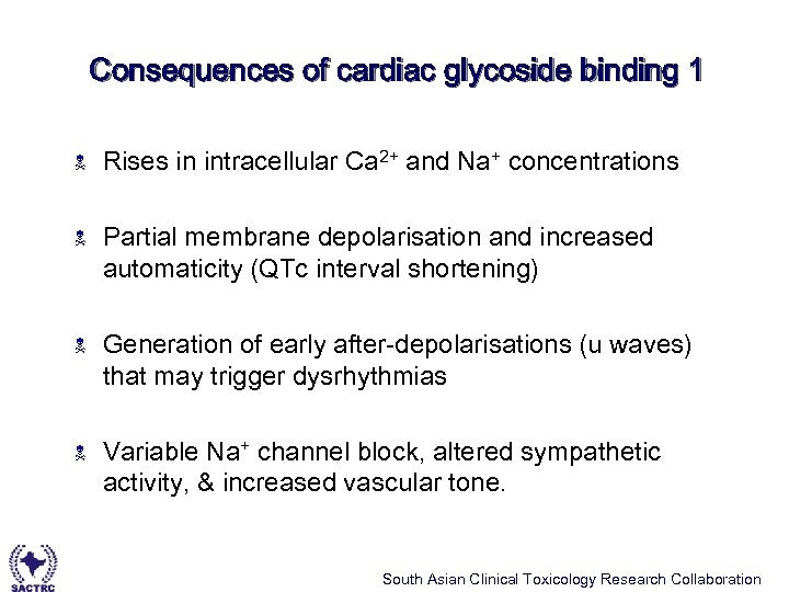 Consequences of cardiac glycoside binding 1 N Rises in intracellular Ca 2+ and Na+