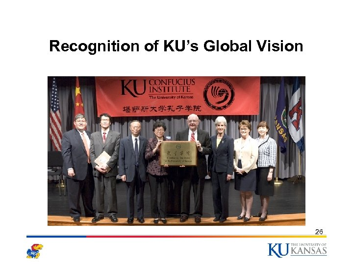 Recognition of KU's Global Vision 26