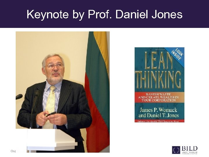 Keynote by Prof. Daniel Jones Copyright © BILD