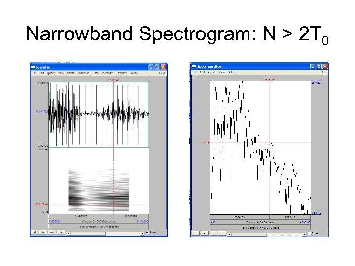 Narrowband Spectrogram: N > 2 T 0