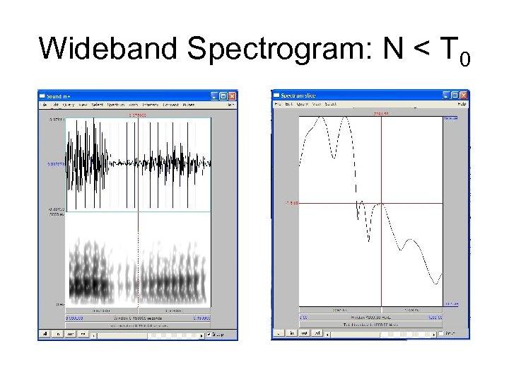 Wideband Spectrogram: N < T 0