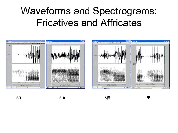 Waveforms and Spectrograms: Fricatives and Affricates sa shi qe iji