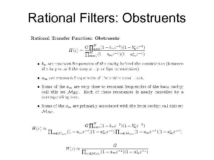 Rational Filters: Obstruents