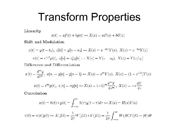Transform Properties