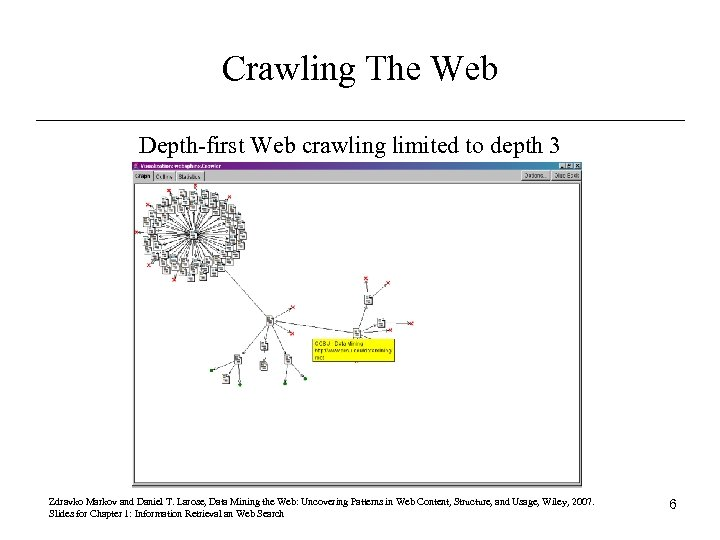 Crawling The Web Depth-first Web crawling limited to depth 3 Zdravko Markov and Daniel