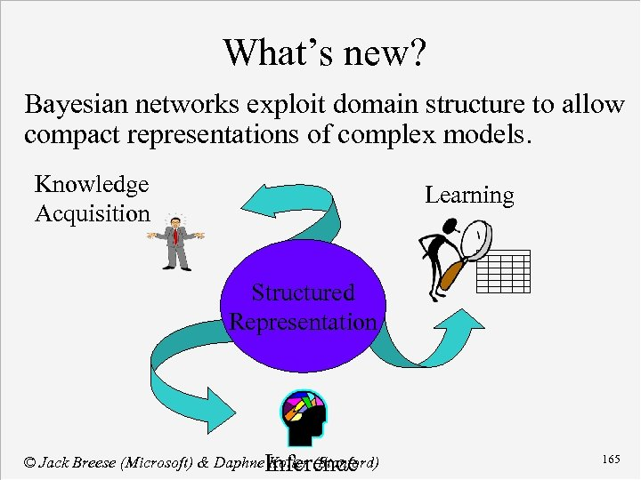 What's new? Bayesian networks exploit domain structure to allow compact representations of complex models.