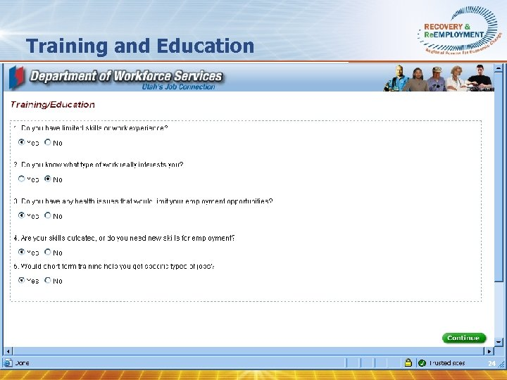 Training and Education 24