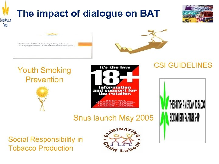 The impact of dialogue on BAT Youth Smoking Prevention Snus launch May 2005 Social