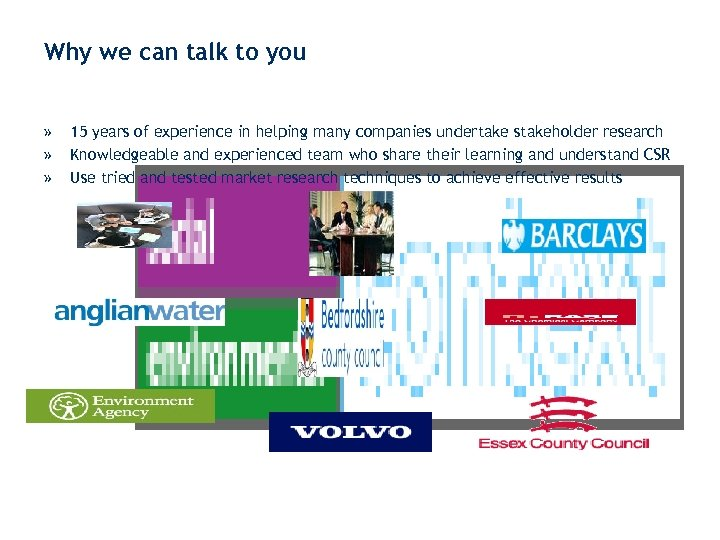 Why we can talk to you » » » 15 years of experience in