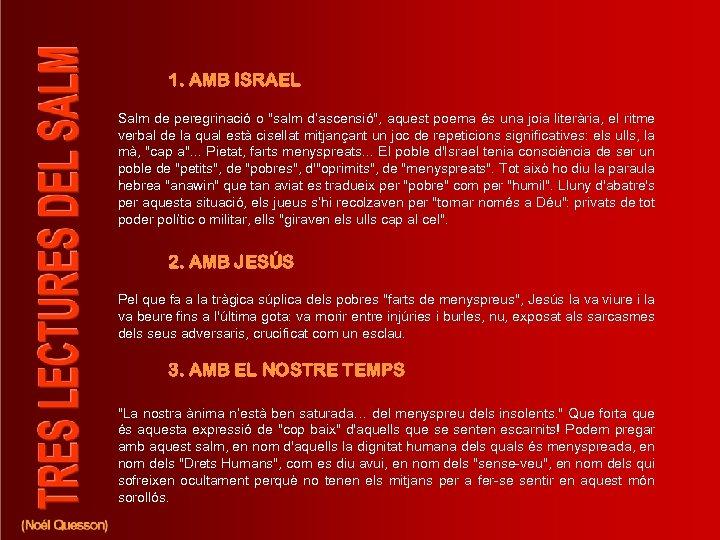 1. AMB ISRAEL Salm de peregrinació o