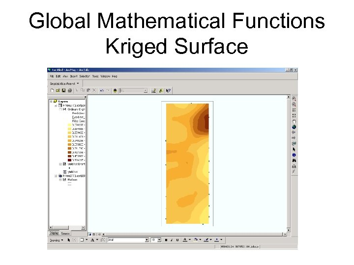 Global Mathematical Functions Kriged Surface