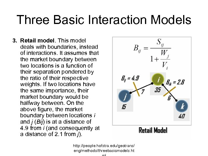 Three Basic Interaction Models 3. Retail model. This model deals with boundaries, instead of