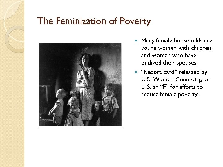 an analysis of the feminisation of poverty Feminization of poverty essay this sample feminization of poverty essay is published for informational purposes only free essays and research papers, are not written by our writers, they are contributed by users, so we are not responsible for the content of this free sample paper.