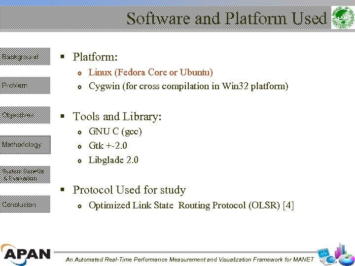 Software and Platform Used Background § Platform: Problem Objectives § Tools and Library: Methodology